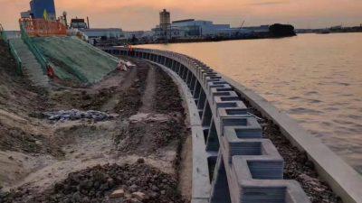 Winsun 500 Metre Uzunluğundaki Nehir Duvarını 3D Baskı İle İnşa Etti